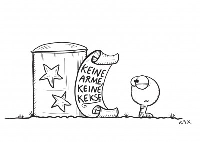 KPLX Cartoon Wurm mit Keksdose