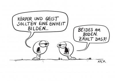 KPLX am Boden Cartoon