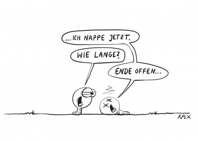 KPLX Cartoon Würmer napping