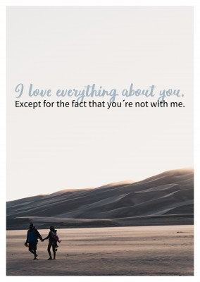 LOVE YOU QUOTE POSTCARD