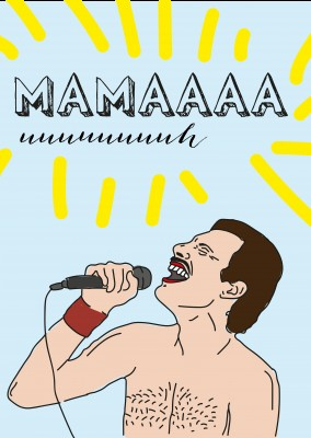 Freddy Mercury singing Mama