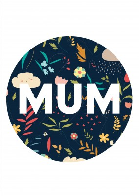 Mum Circle Flower Background