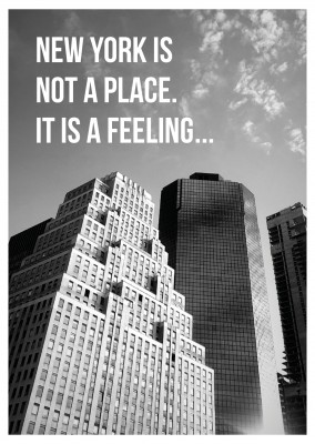 New York Skyline Postcard quote