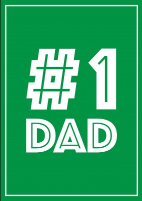Number One Dad - Green