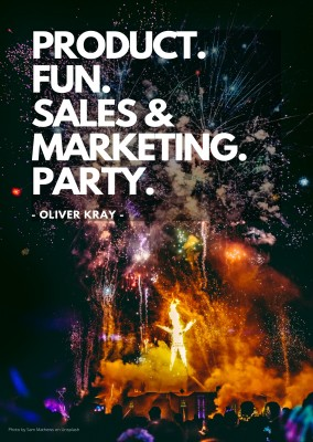 PRODUCT. FUN. SALES &  MARKETING. PARTY.