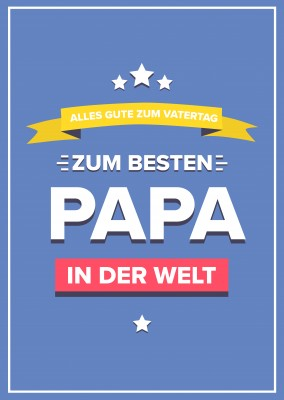 Alles Gute Vatertag Banner
