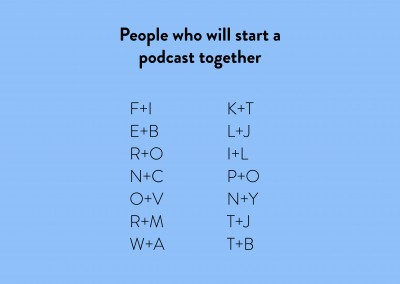 People who will start a podcast together