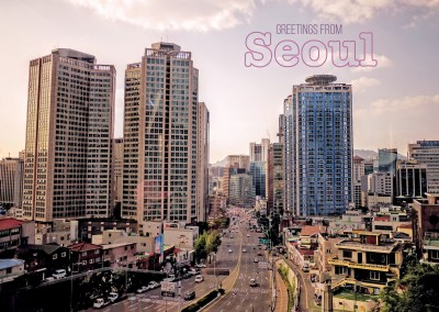 Photo of Seouls' skyline