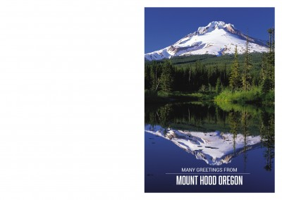 photo of Mount Hood with Mirror Lake and typography