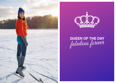Queen of the day - fabulous forever postcard