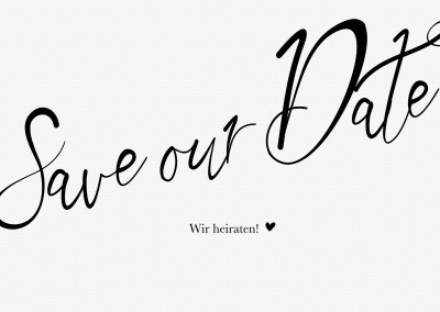 Save our date wir heiraten