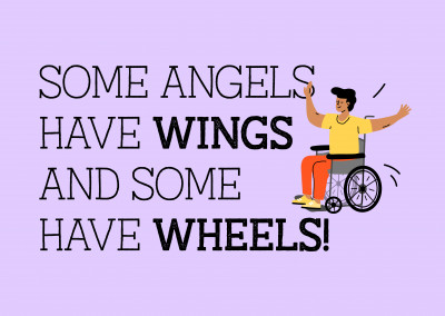 Some angels have wings and some have wheels!