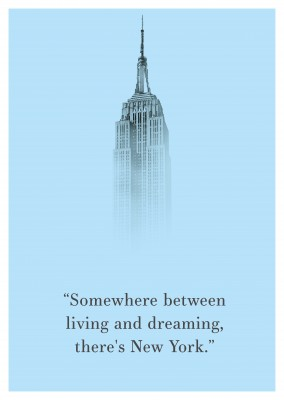 New York Quote Postcard