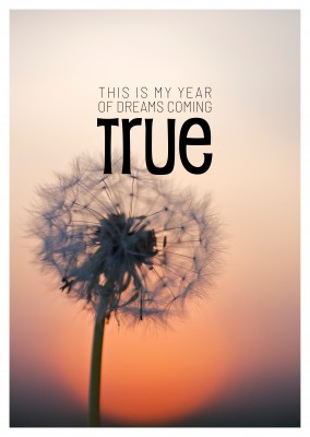 THIS IS MY YEAR OF DREAMS COMING