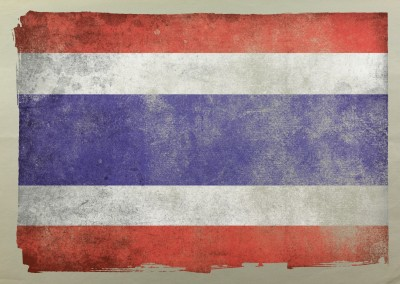 Postcard with flag of Thailand
