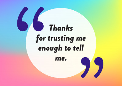 Thanks for trusting me - Pride Cards