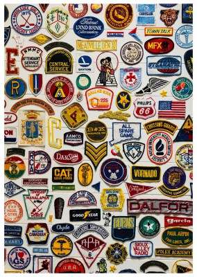 Foto amerikanische Labelpatches