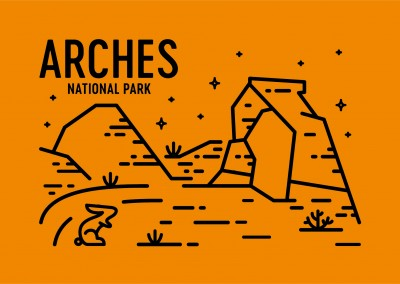 Arches National Park Grafik