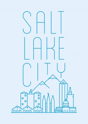 Salt Lake City Skyline Grafik