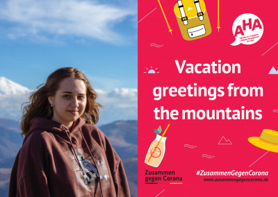 #ZusammenGegenCorona Vacation greetings from the mountains
