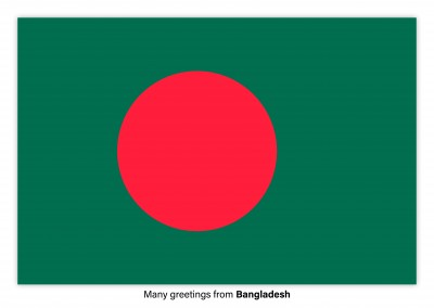 Postcard with flag of Bangladesh