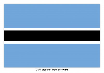 Postcard with flag of Botswana