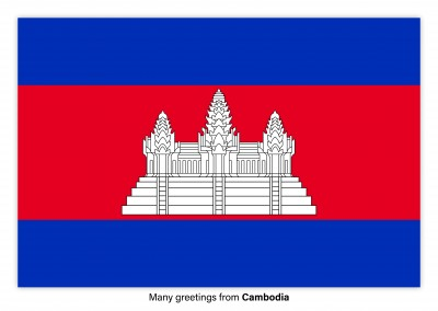 Postcard with flag of Cabo Cambodia