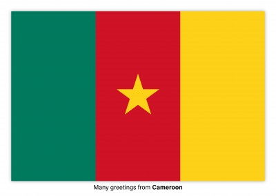 Postcard with flag of Cameroon