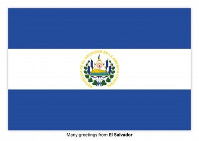 Postcard with flag of the El Salvador