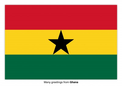 Postcard with flag of Ghana