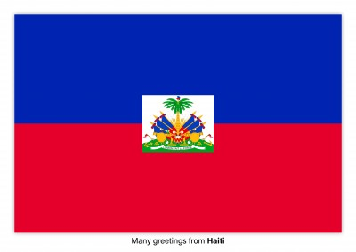 Postcard with flag of Haiti