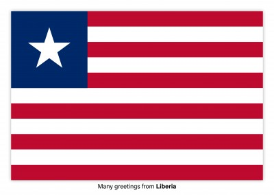 Postcard with flag of Liberia
