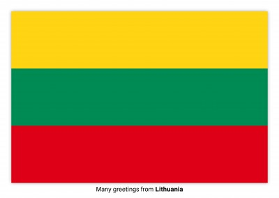 Postcard with flag of Lithuania