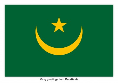 Postcard with flag of Mauritania