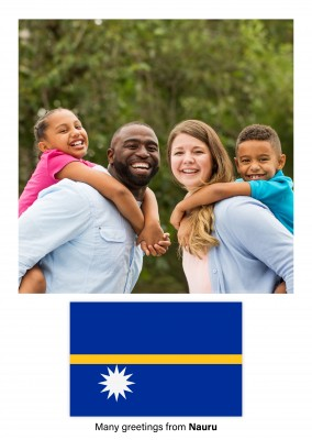 Postcard with flag of Nauru