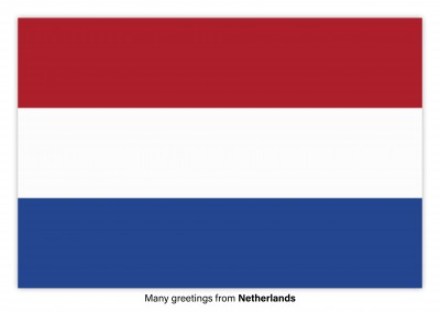 Postcard with flag Netherlands
