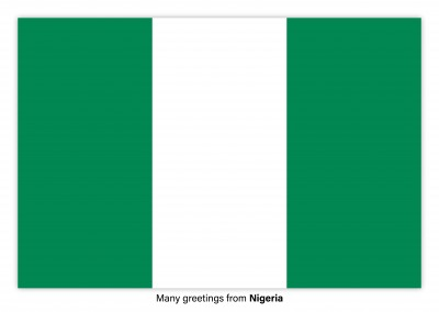 Postcard with flag Nigeria