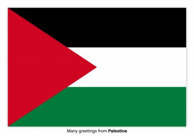 Postcard with flag of Palestine