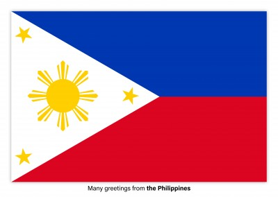 Postcard with flag of the Philippines