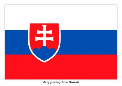 Postcard with flag of Slovakia