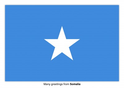 Postcard with flag of Somalia