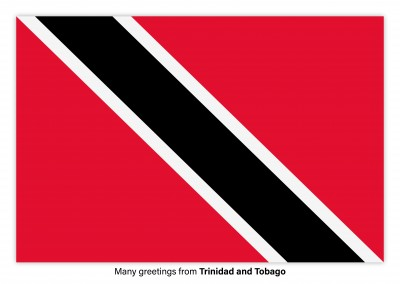 Postcard with flag of Trinidad and Tobago