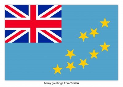 Postcard with flag of Tuvalu
