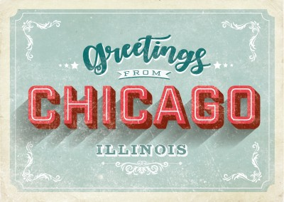 Vintage Postcard Chicago - Greetings from Chicago