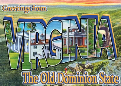 Virginia Retro Style Postcard