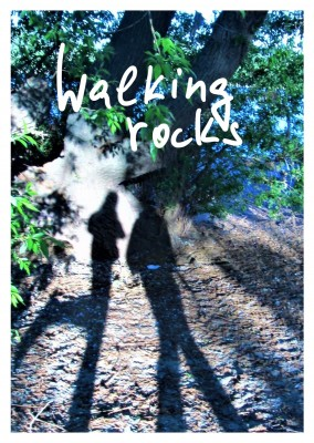 postcard Walking rocks