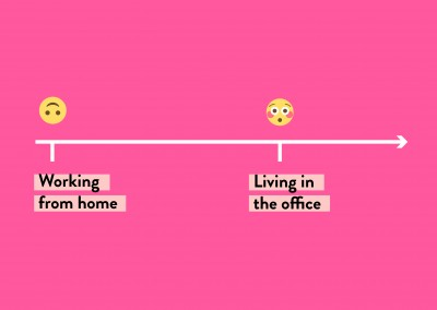 Working from home / Living in the office