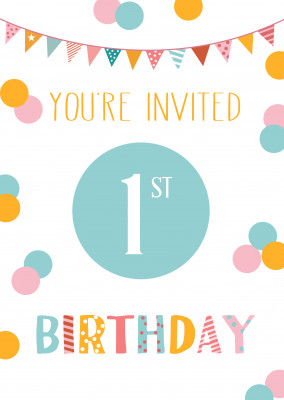 You're invited 1st birthday
