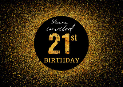 You're invited 21st Birthday