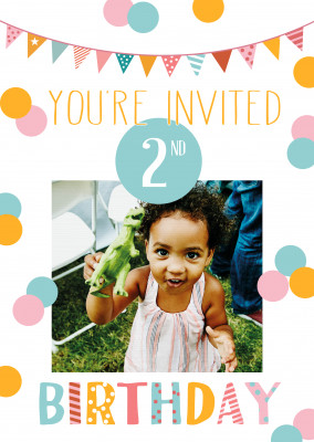 You're invited 2nd birthday